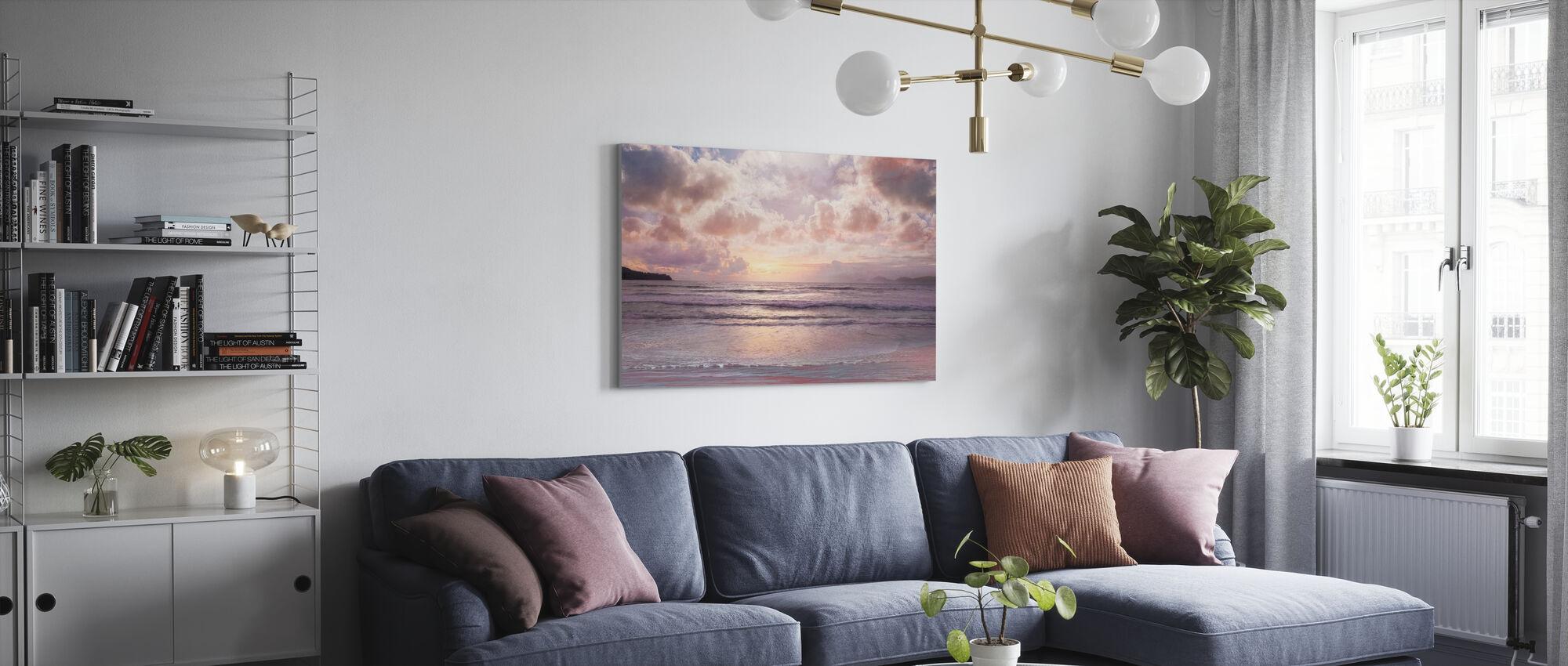 Rosa Horisont - Canvastavla - Vardagsrum