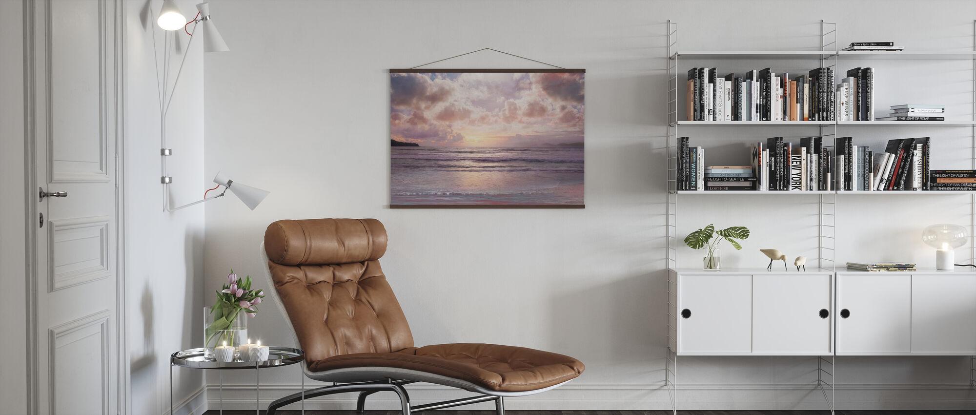 Pink Horizon - Poster - Living Room