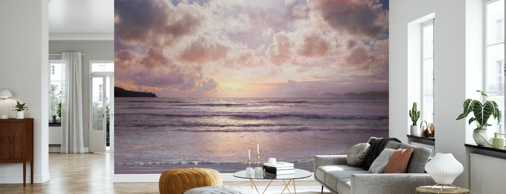 Roze Horizon - Behang - Woonkamer