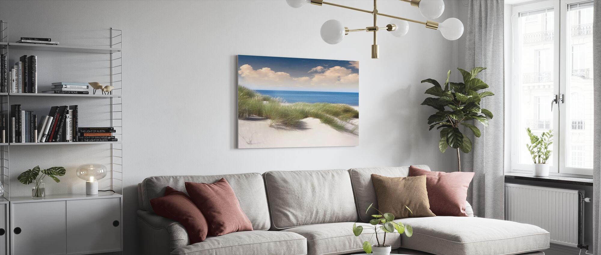 Grasrijke zandduinen - Canvas print - Woonkamer