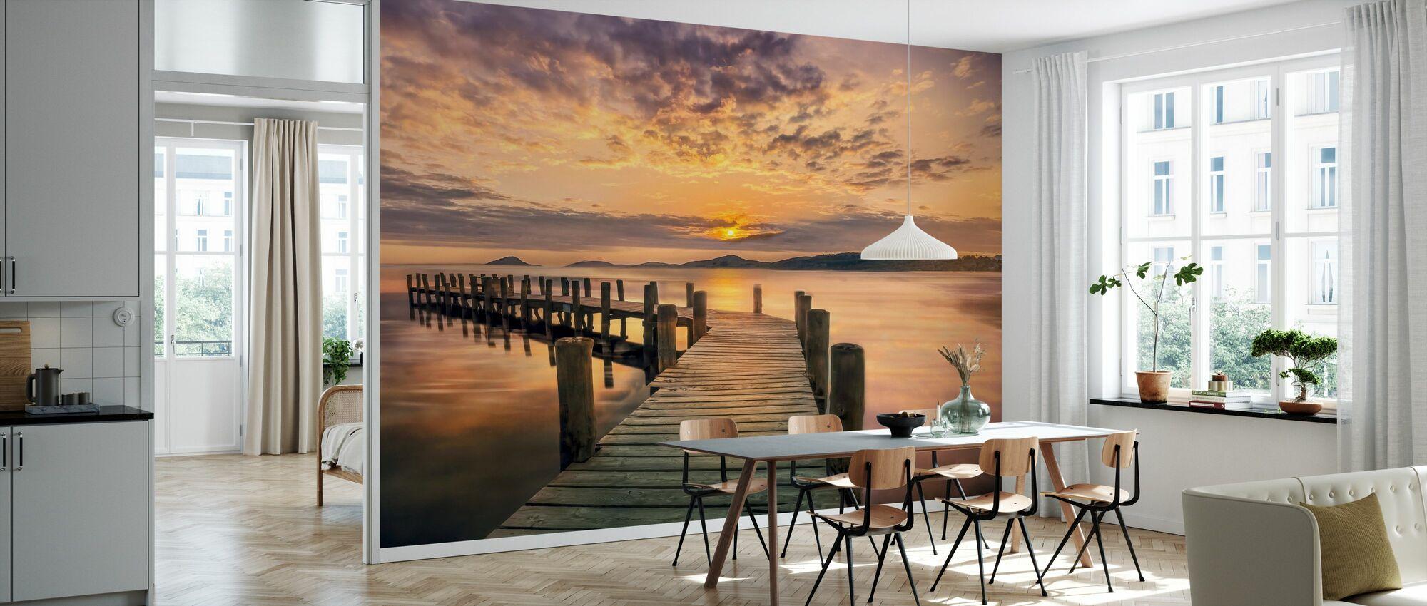 Pier i solnedgang - Tapet - Kjøkken