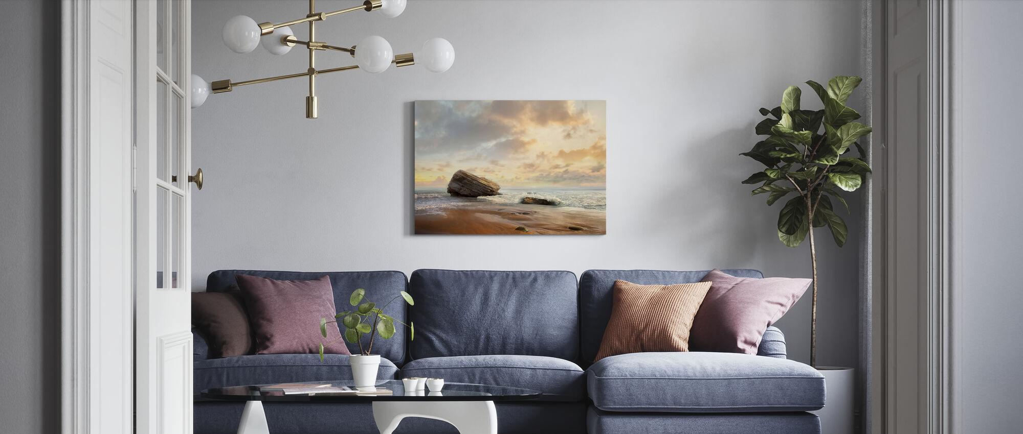 Vågor på stranden - Canvastavla - Vardagsrum