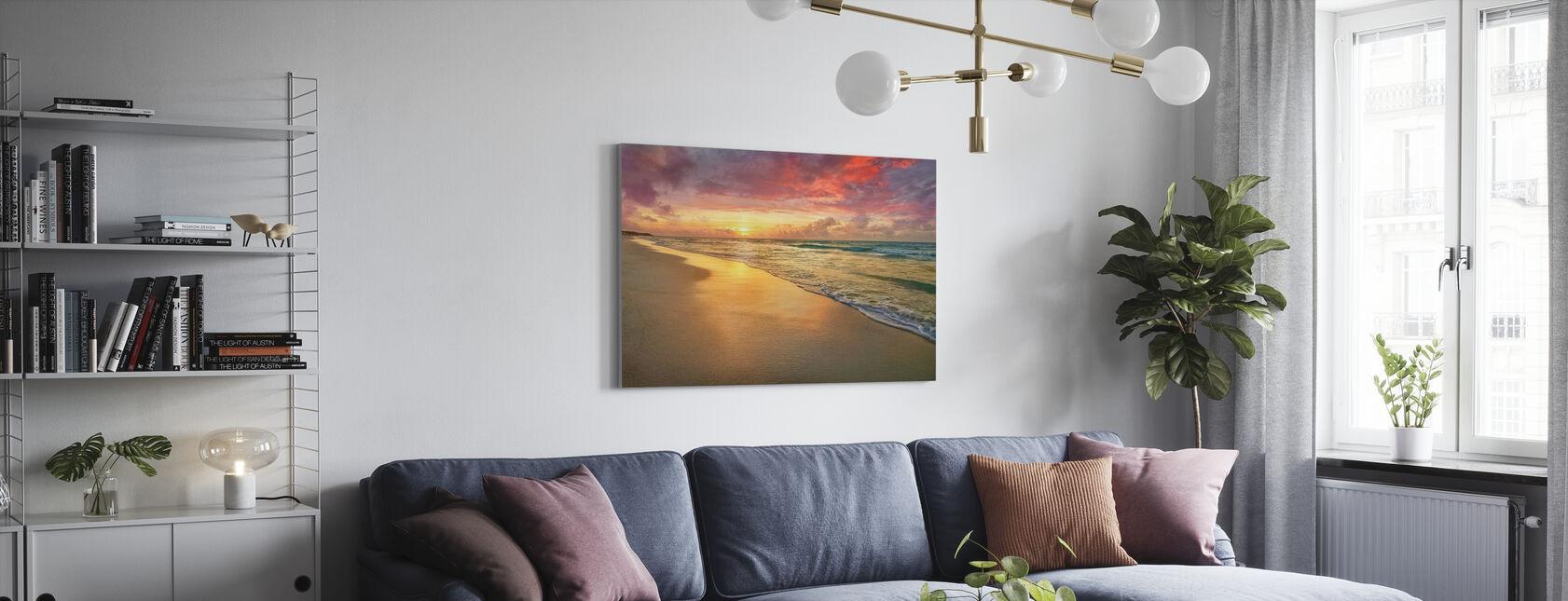 Playa Sunset - Lienzo - Salón