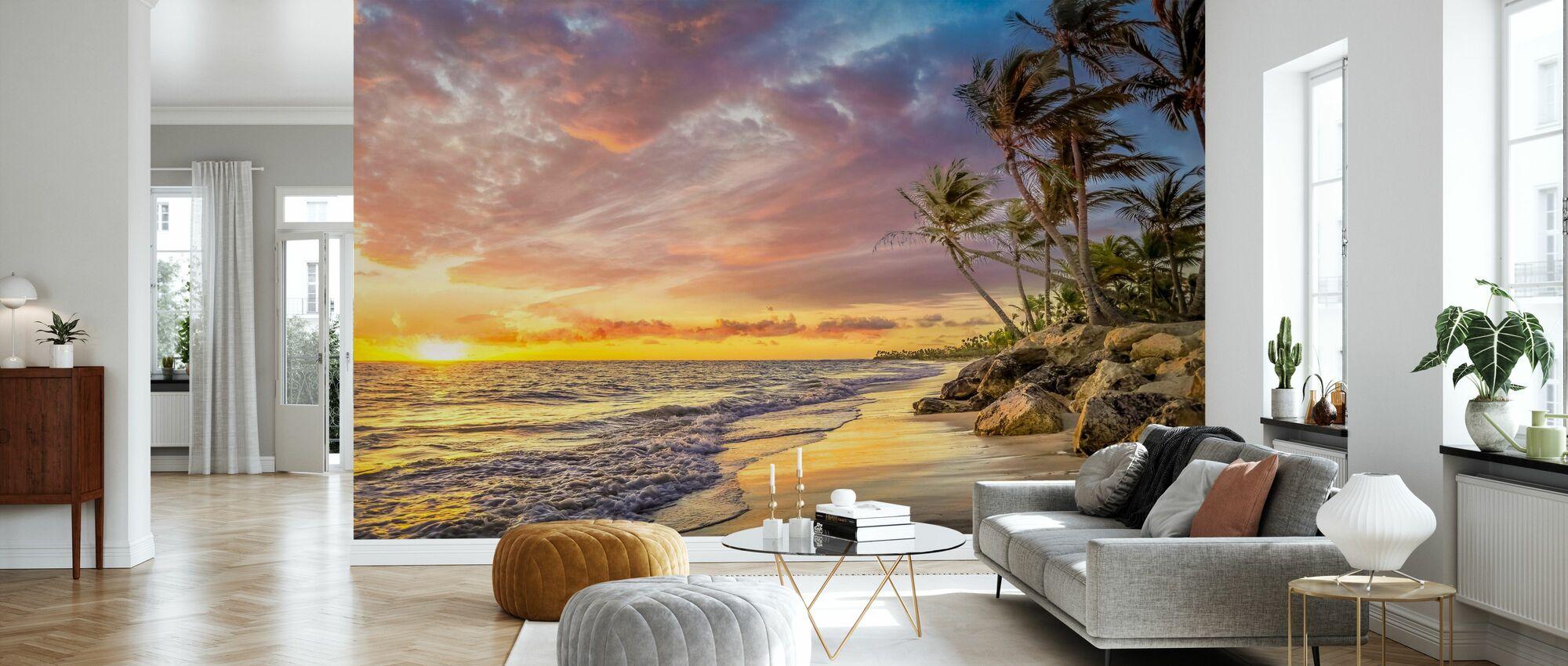 Palm Tree in Sunset - Wallpaper - Living Room