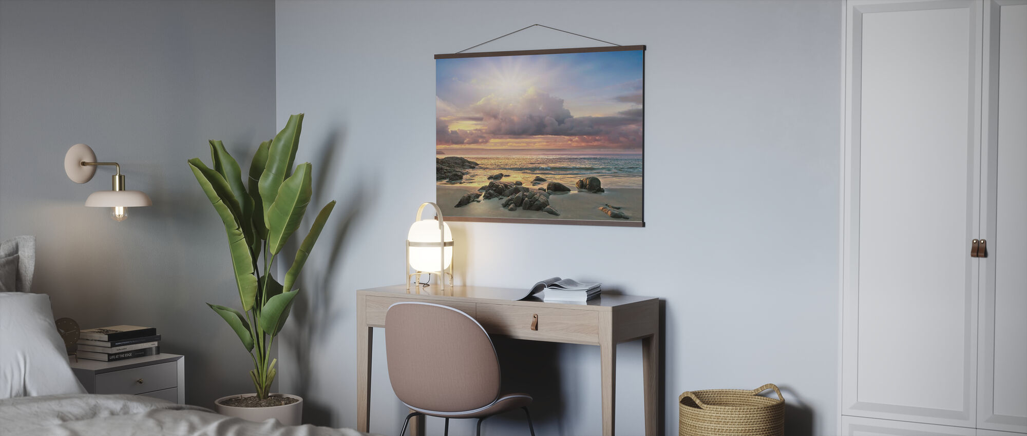 Soluppgång bakom moln - Poster - Kontor