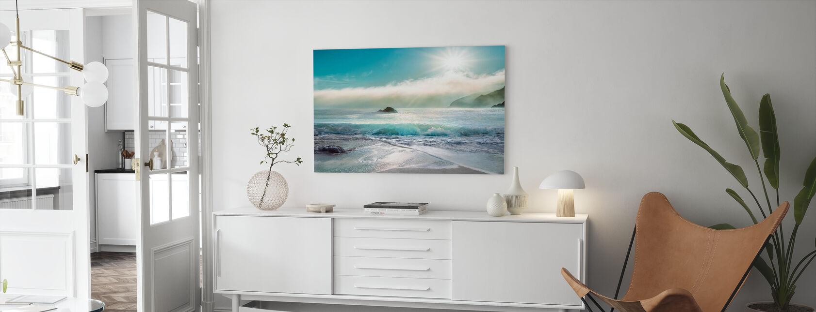 Sunlight over the Ocean - Canvas print - Living Room