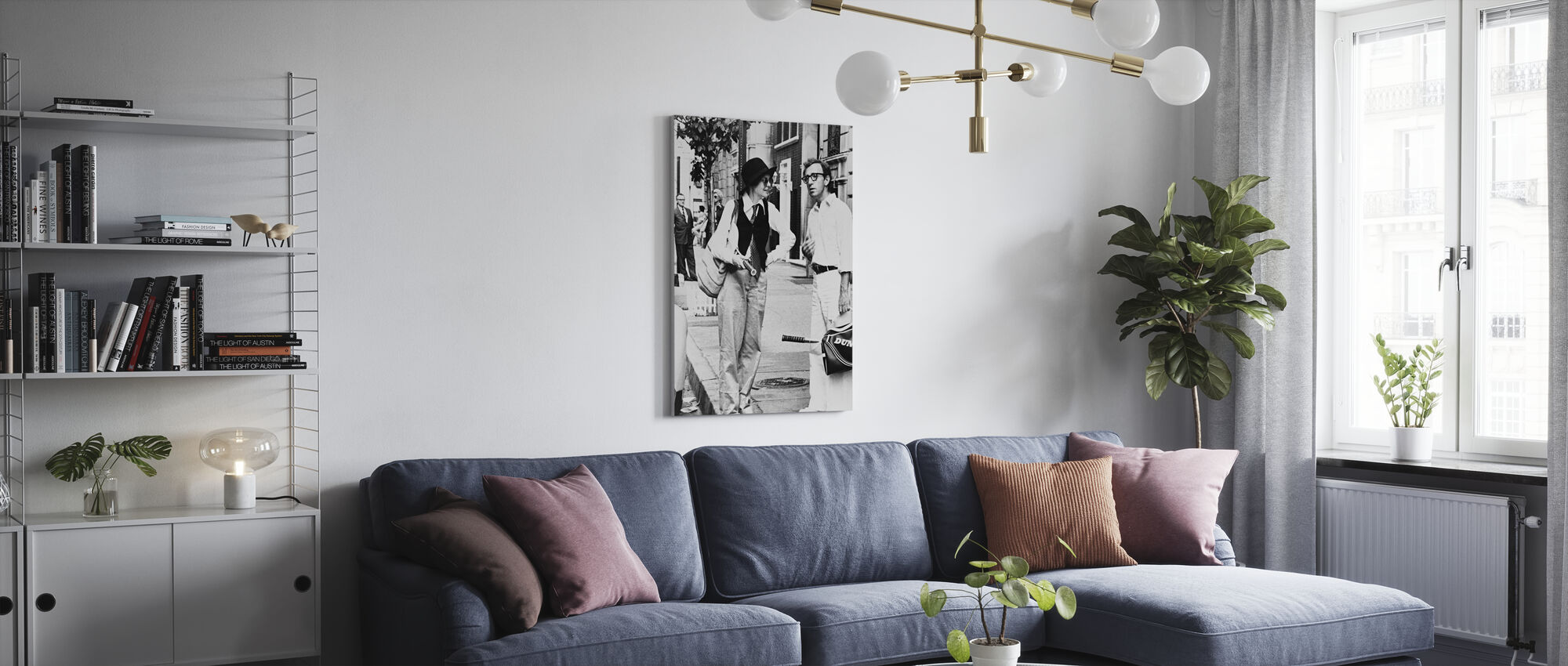 Annie Hall - Diane Keaton and Woody Allen - Canvas print - Living Room