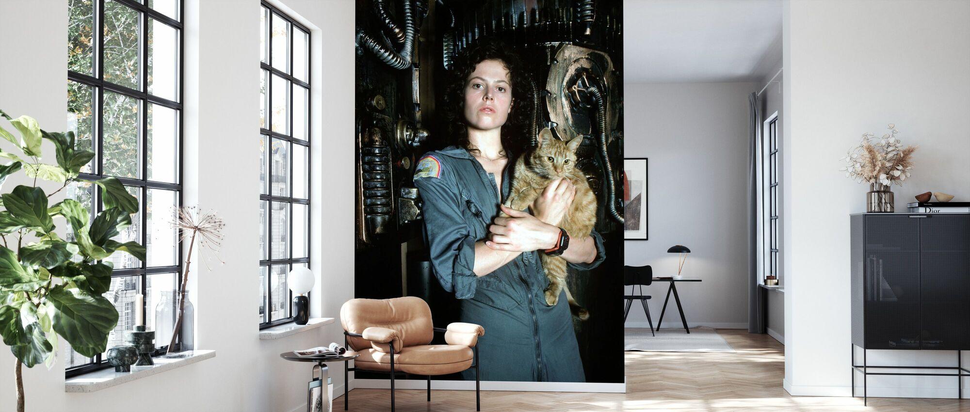 Främmande - Sigourney Weaver - Tapet - Vardagsrum