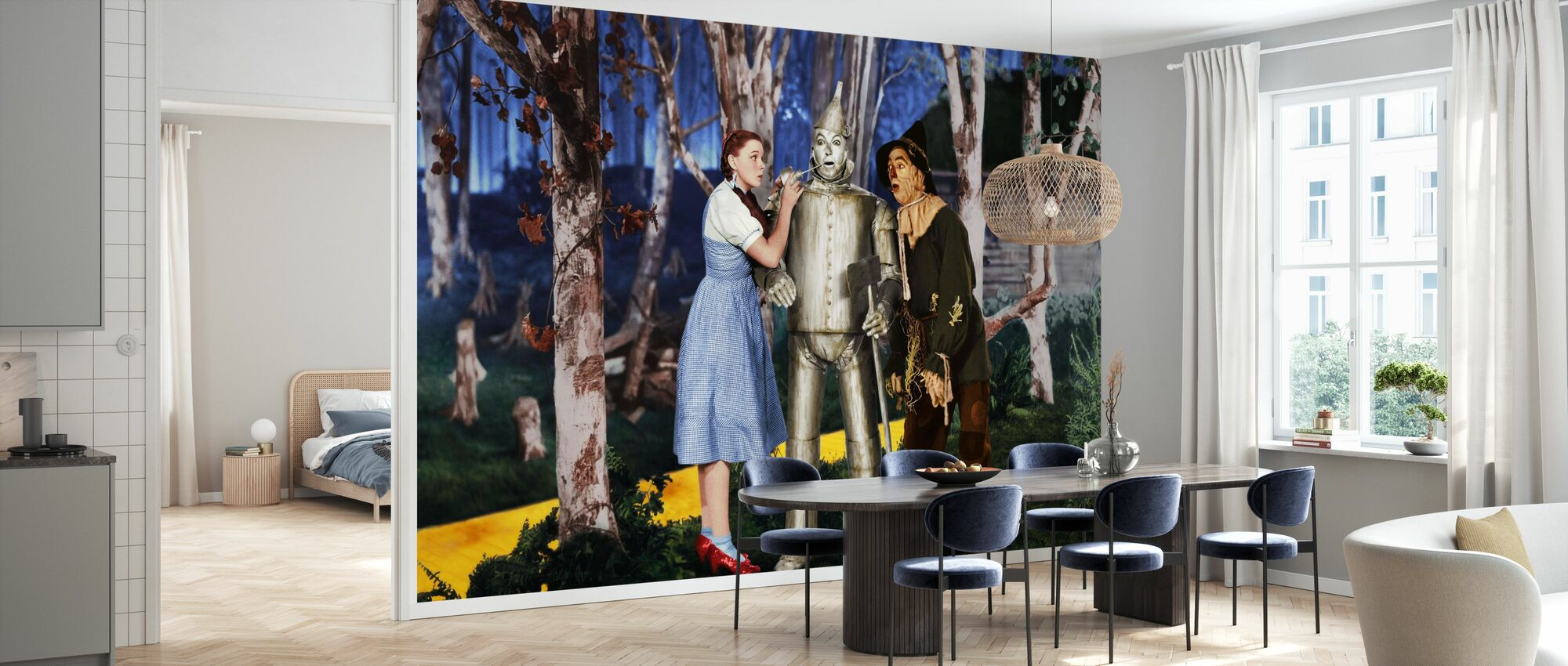Wizard of Oz - Jack Haley Judy Garland and Ray Bolger - Wallpaper - Kitchen