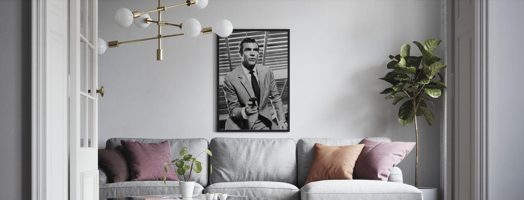 James Bond - Sean Connery - Ingelijste print - Woonkamer