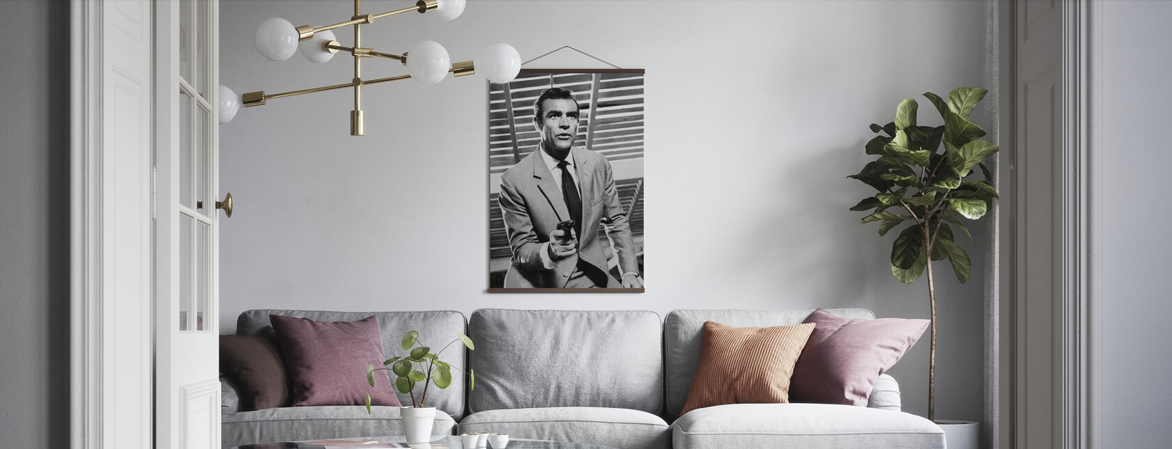 James Bond - Sean Connery - Affiche - Salle à manger
