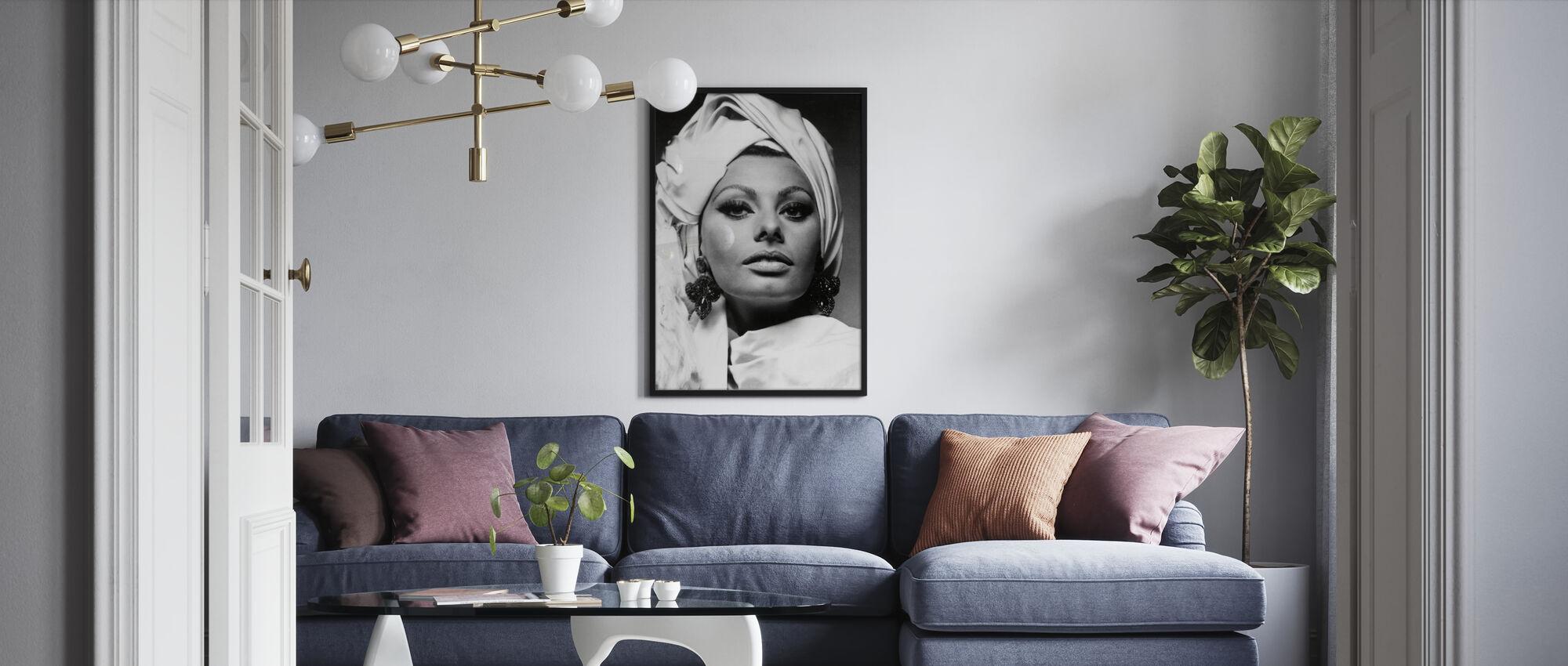 Arabesque - Sophia Loren - Ingelijste print - Woonkamer