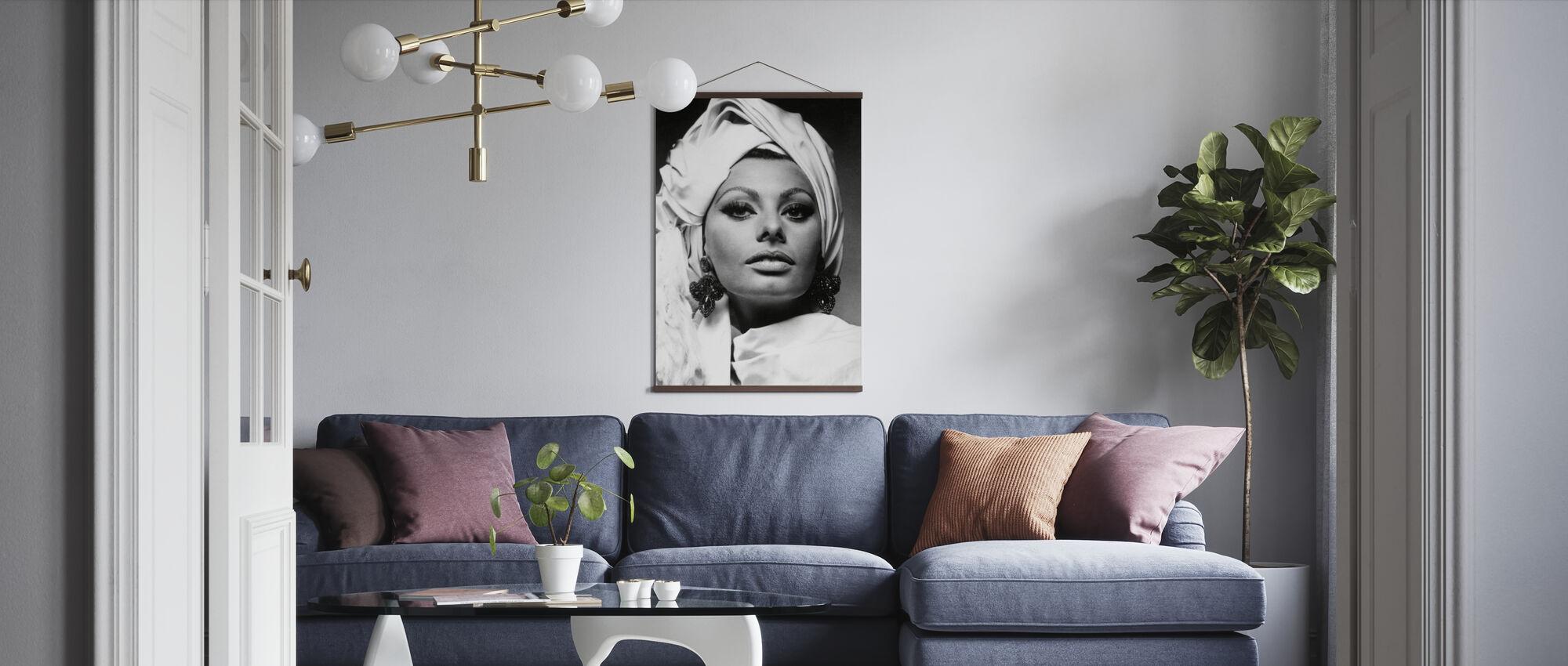 Arabesque - Sophia Loren - Poster - Woonkamer