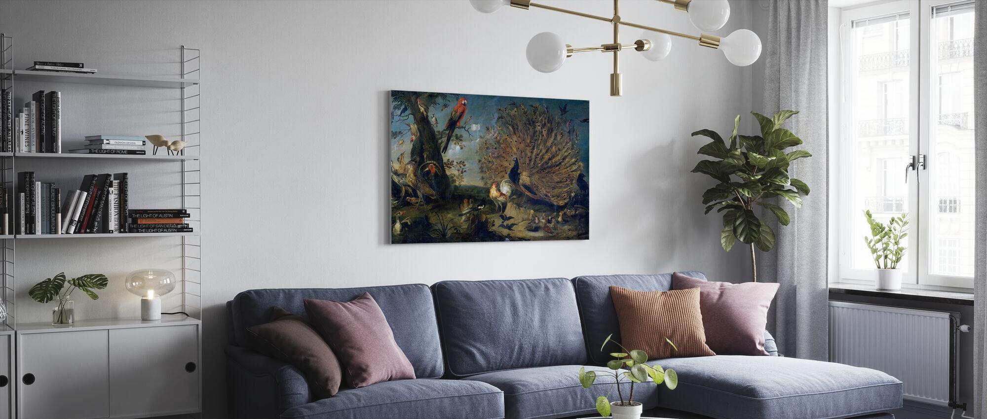 Vogelconcert - Frans Snyders - Canvas print - Woonkamer