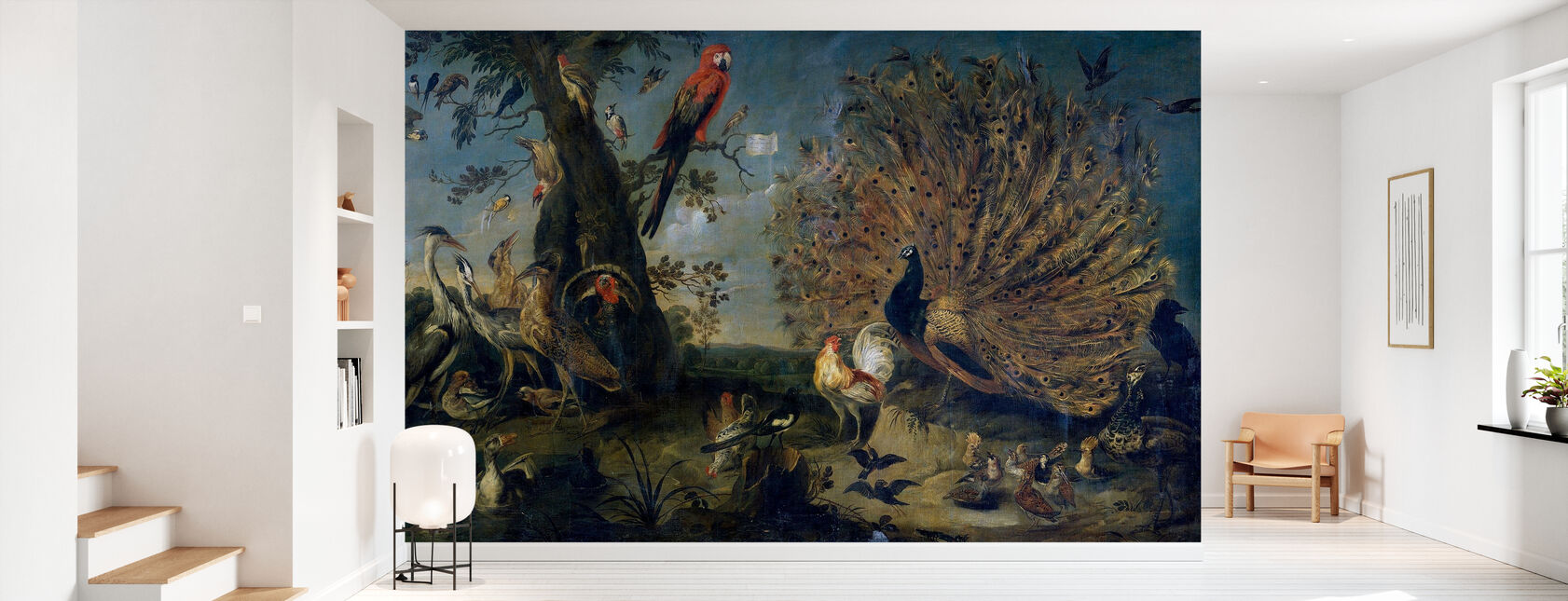 Vogelconcert - Frans Snyders - Behang - Gang
