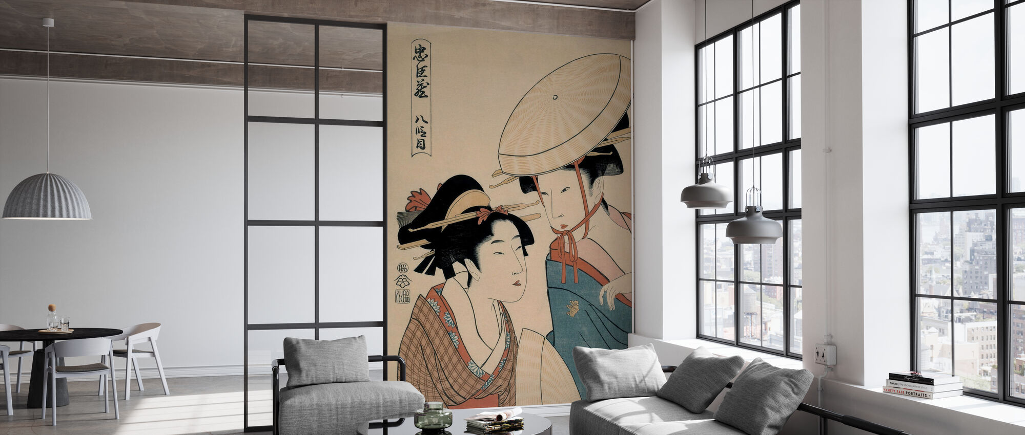 Takamizawa Hachi Damme - Kitagawa Utamaro - Wallpaper - Office