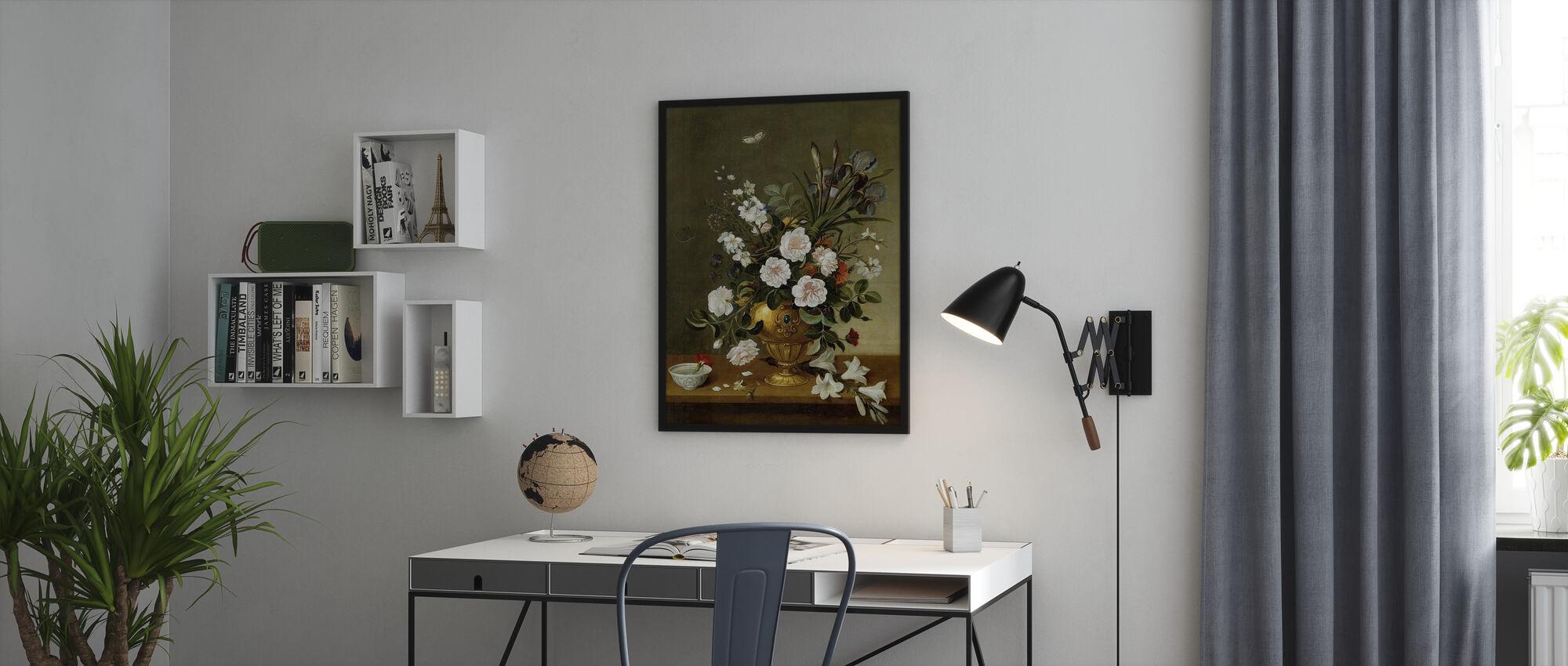 Blomma Vas Målning - Pedro Camprobin - Poster - Kontor