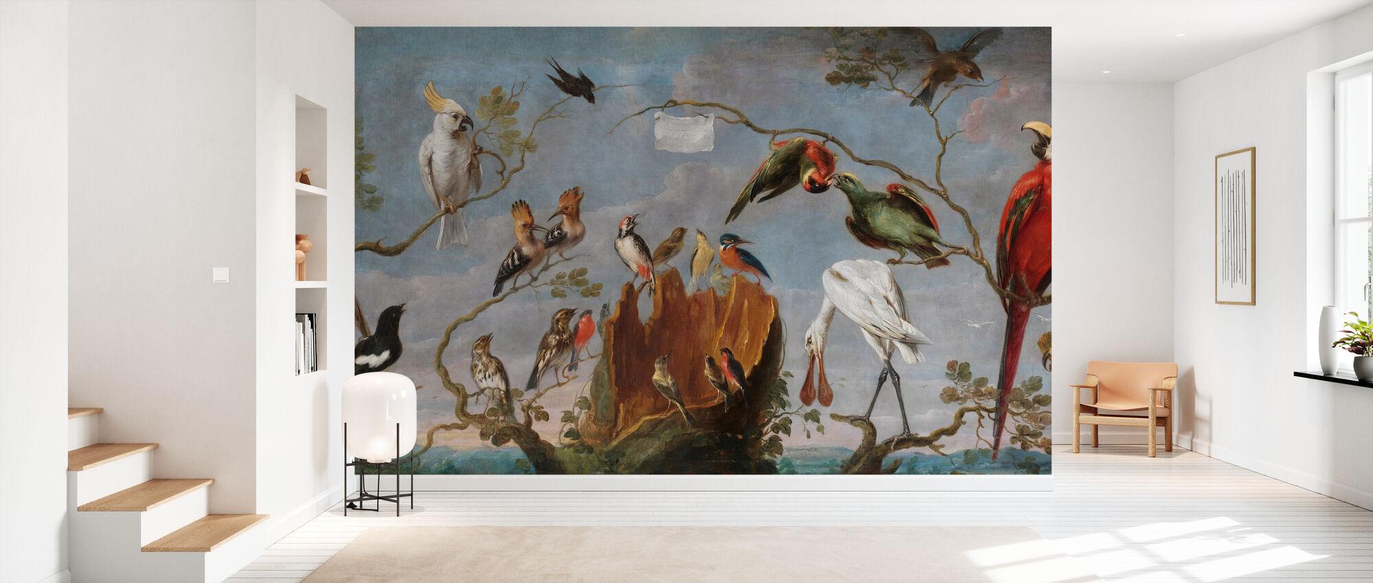 Birds Concert - Frans Snyders - Wallpaper - Hallway