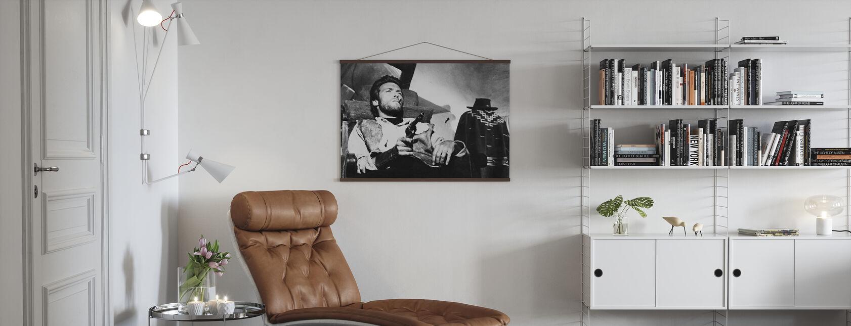 Muutaman dollarin lisää - Clint Eastwood - Juliste - Olohuone