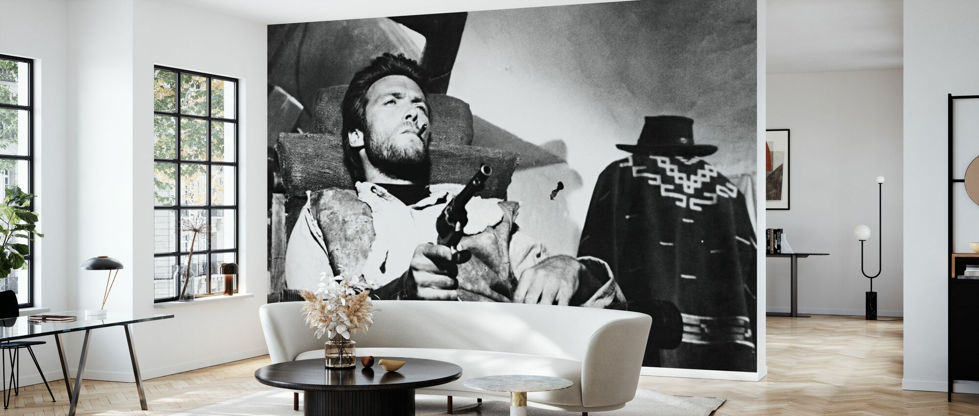Pocos dólares más - Clint Eastwood - Papel pintado - Salón