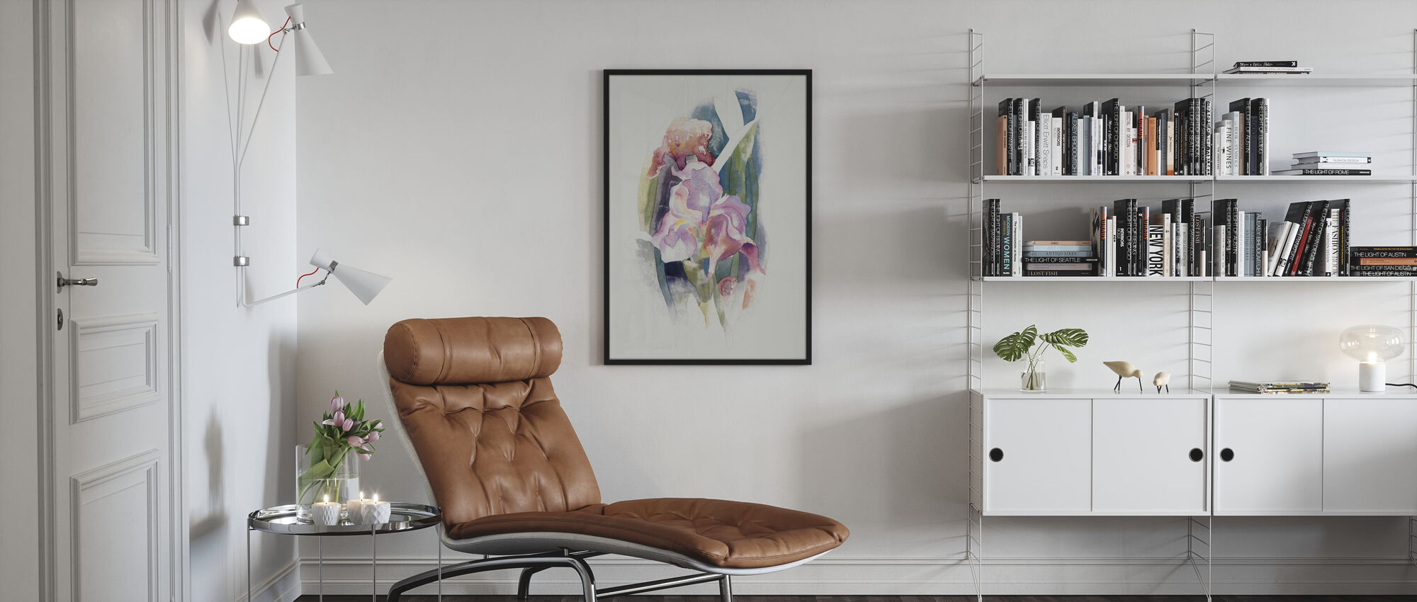 Lila Iris - Poster - Wohnzimmer