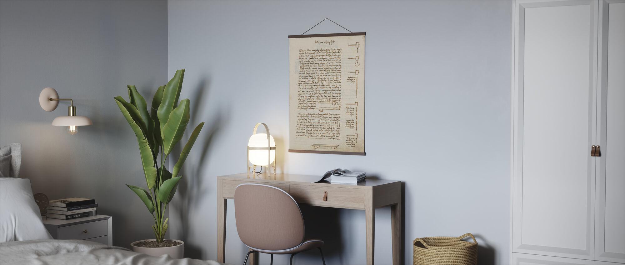 Statics and Mechanics - Leonardo Da Vinci - Poster - Office