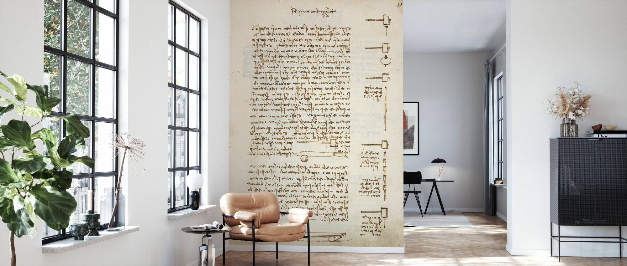 Statics and Mechanics - Leonardo Da Vinci - Wallpaper - Living Room