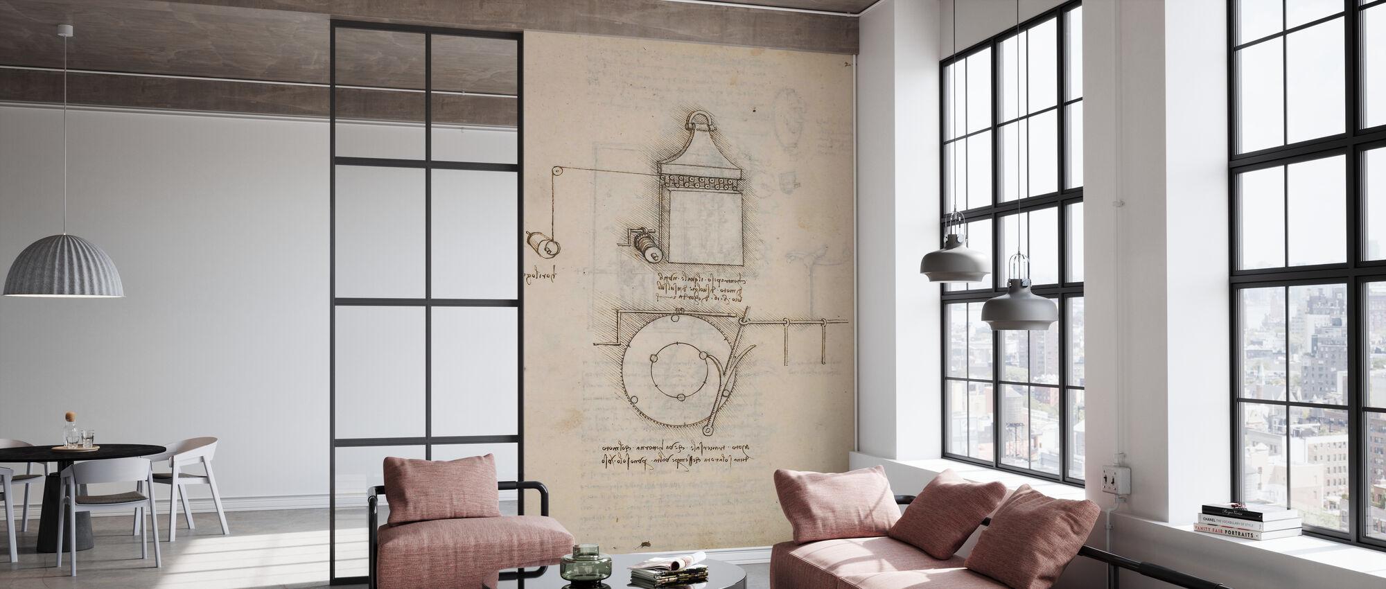 Pulley System - Leonardo Da Vinci - Wallpaper - Office