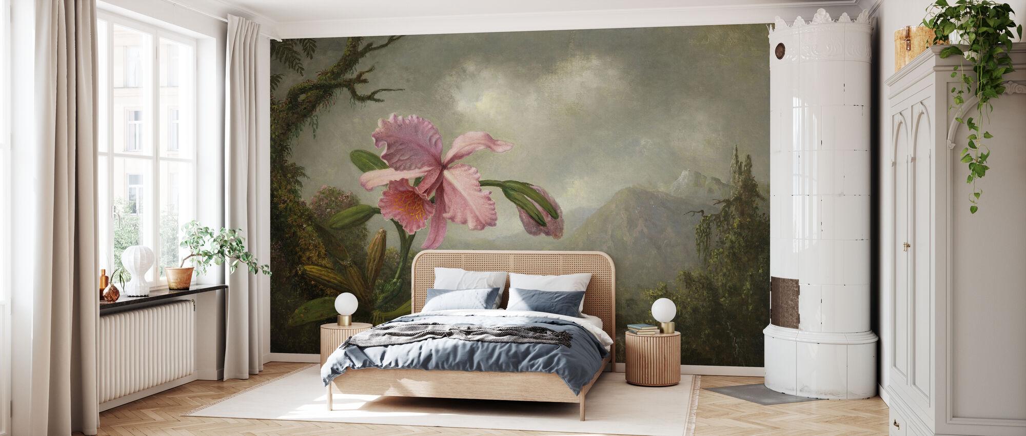 Orchid and Hummingbird - Martin Johnson Heade - Wallpaper - Bedroom