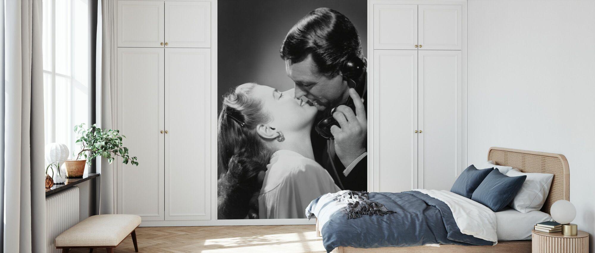 Beryktad - Cary Grant och Ingrid Bergman - Tapet - Sovrum