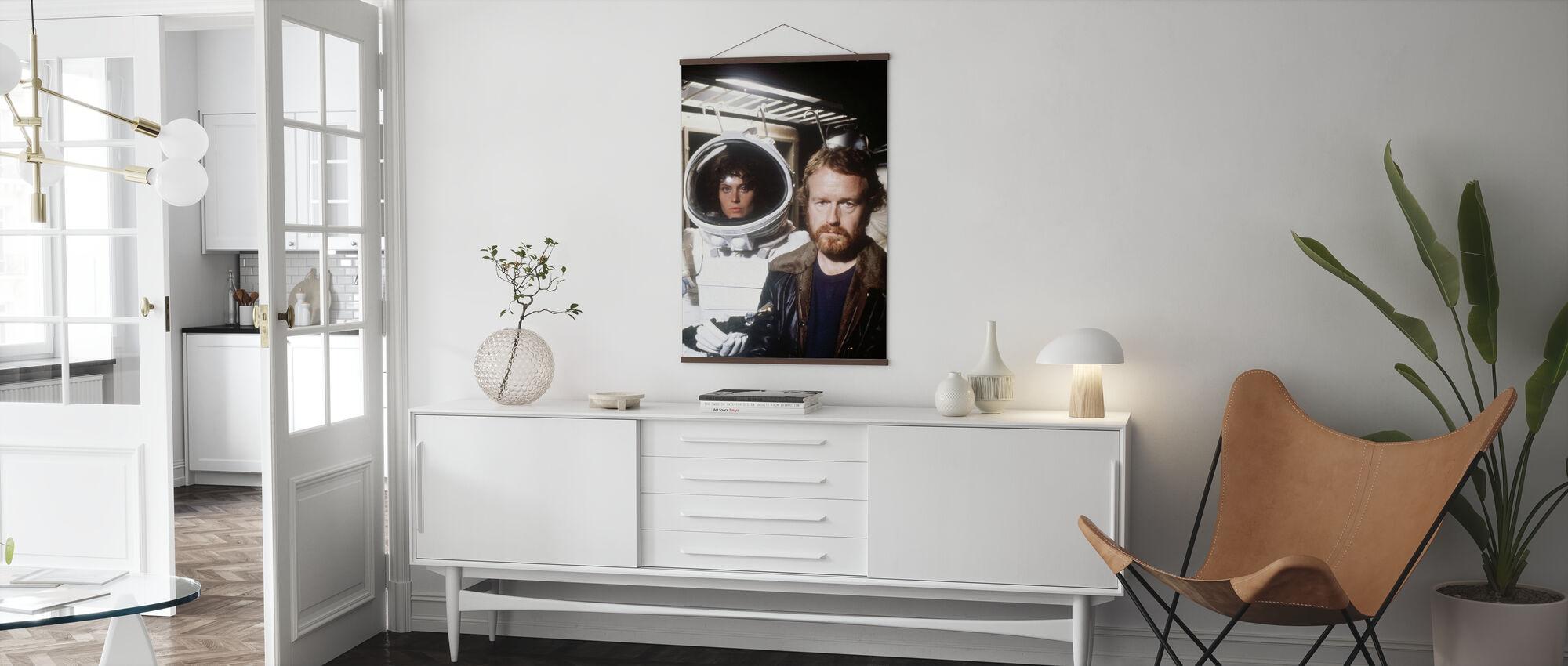 Alien ruimtepak - sigourney weaver en ridley scott - Poster - Woonkamer
