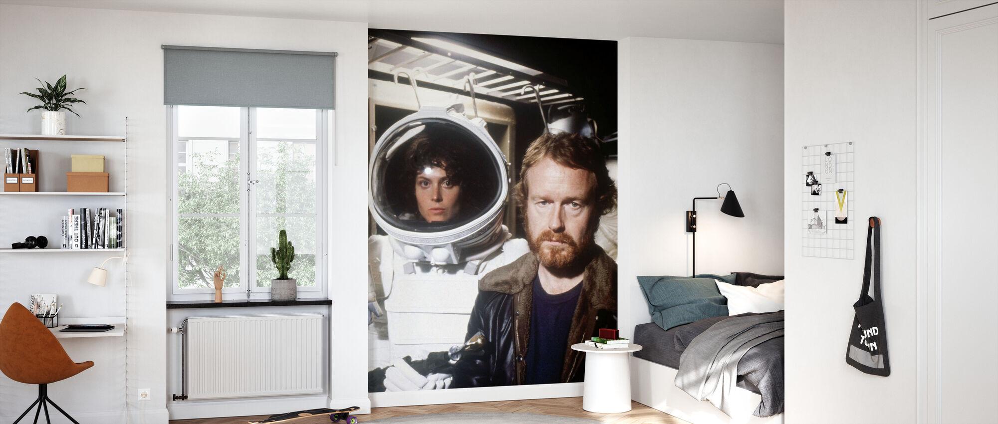 Främmande rymddräkt - Sigourney Weaver och Ridley Scott - Tapet - Barnrum