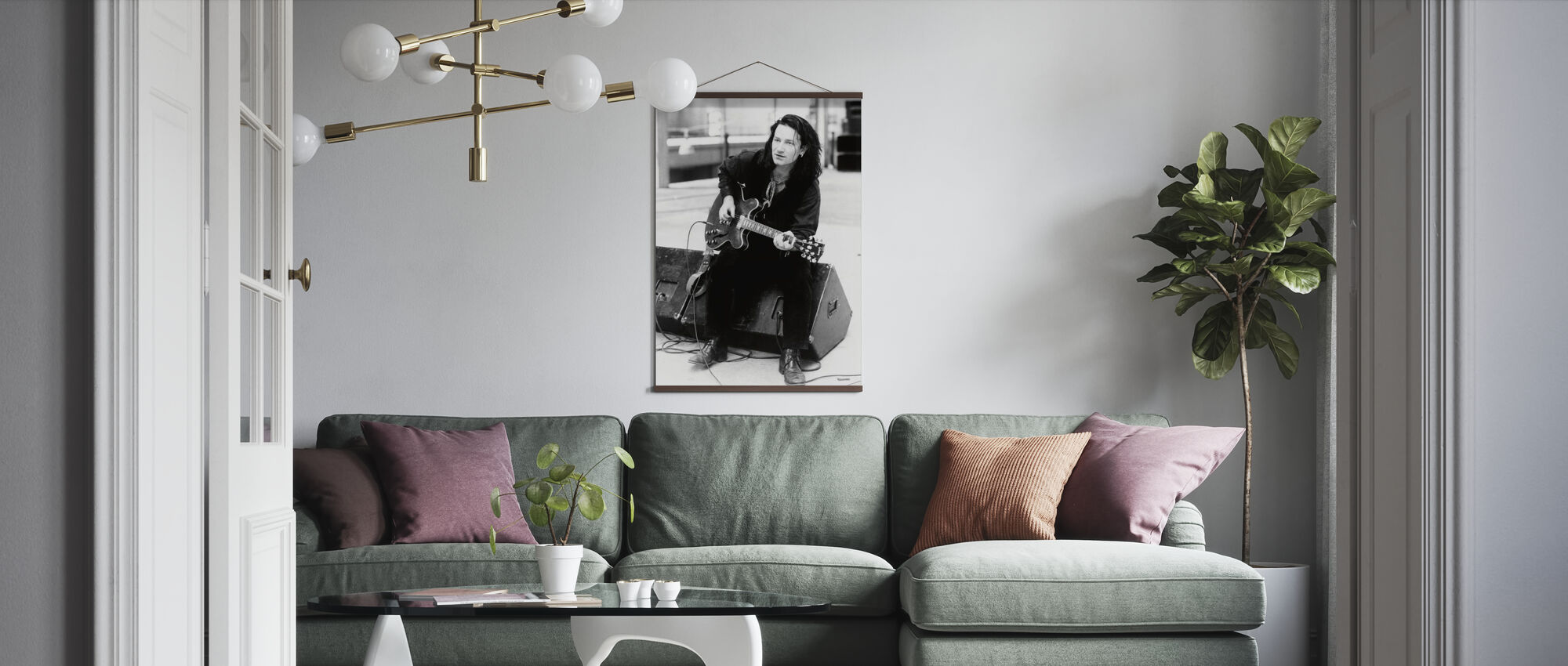 Rattle and Hum - Bono - Poster - Living Room