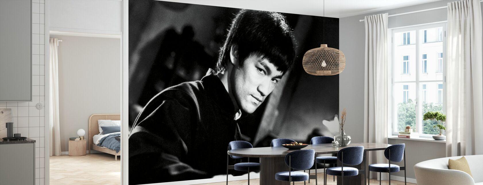 Kampen holdning - Bruce Lee - Tapet - Køkken