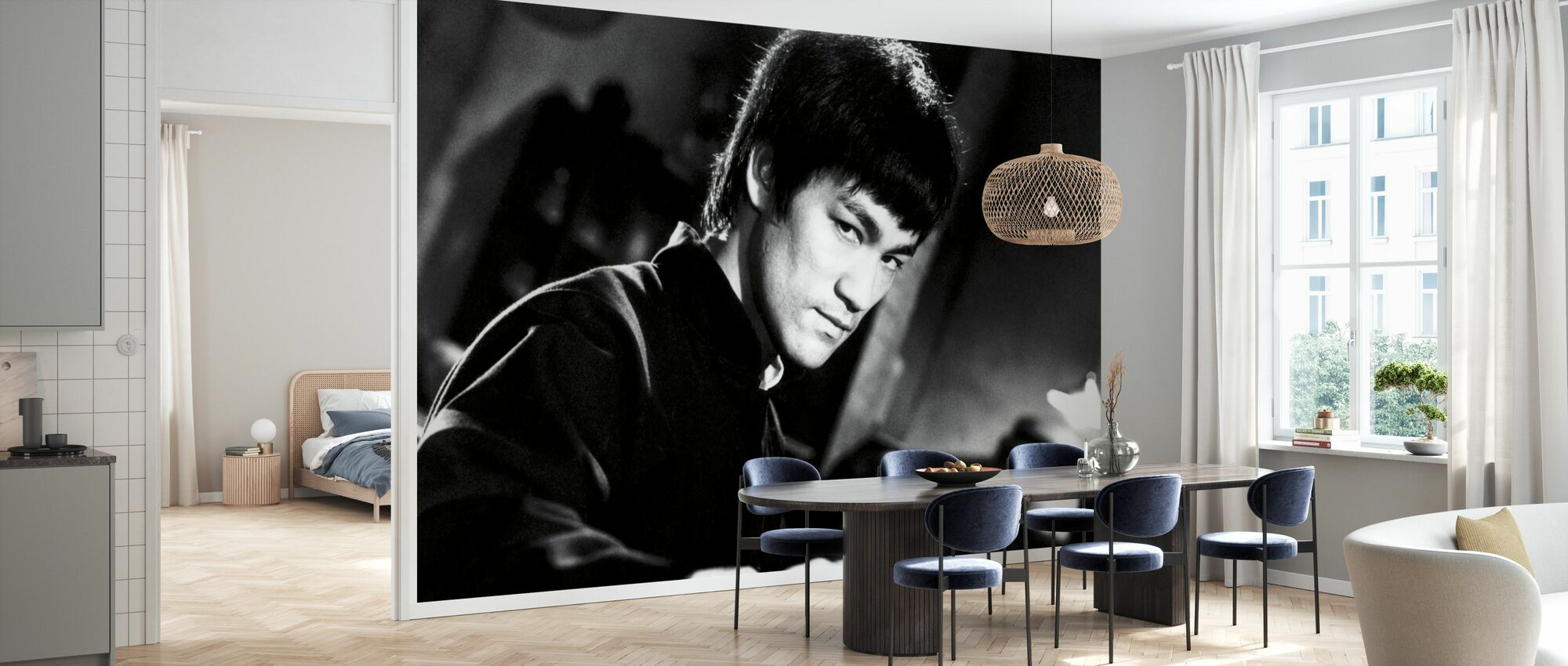 Fighting Stance - Bruce Lee - Wallpaper - Kitchen