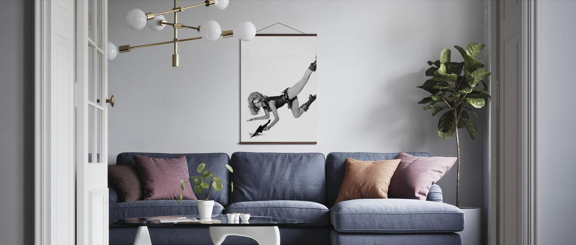 Mooie Barbarella - Jane Fonda - Poster - Woonkamer