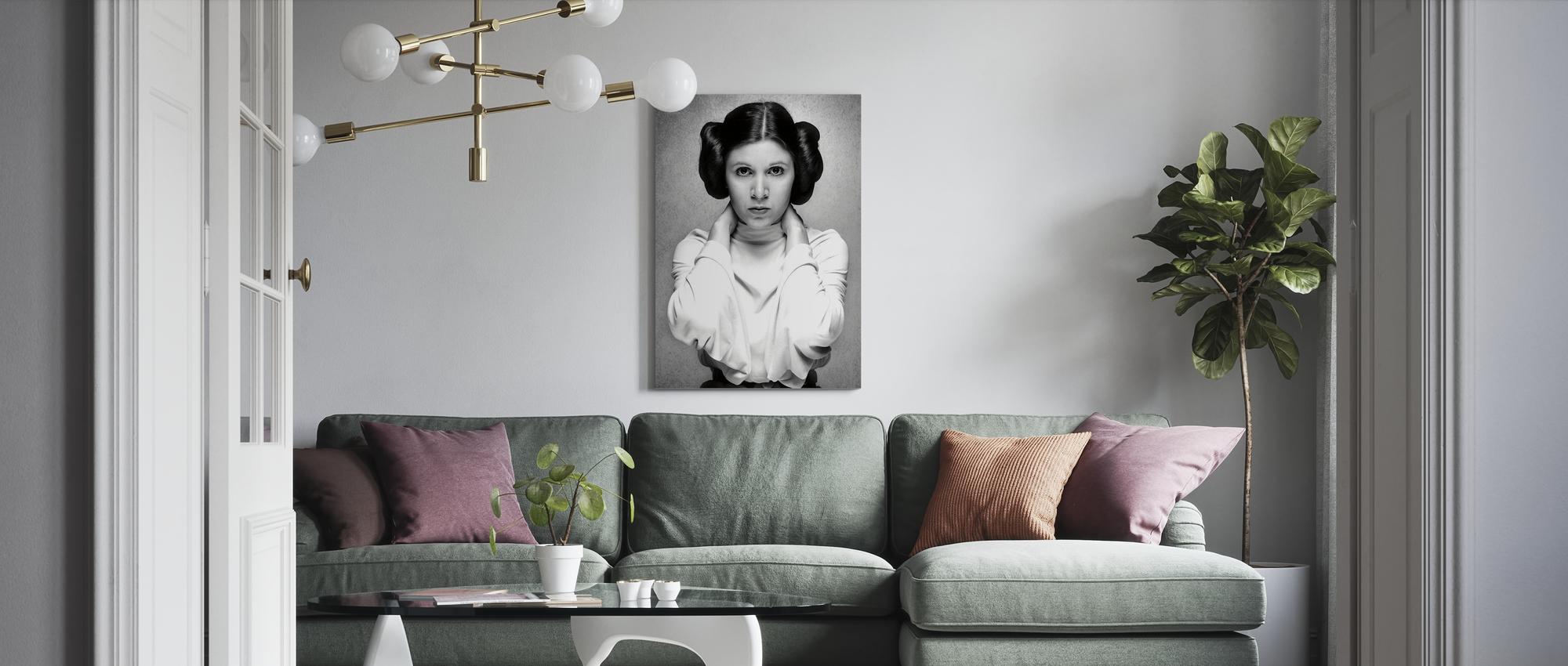 Leinwand Leinwanddruck Prinzessin Leia Organa Artwork Film Plakat Original Gerahmt Fine Art Malerei Poster Pop-Art aus Star Wars Carrie Fisher