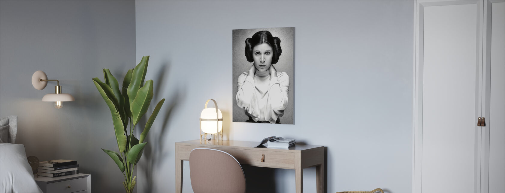 Prinzessin Leia - Carrie Fisher - Leinwandbild - Büro