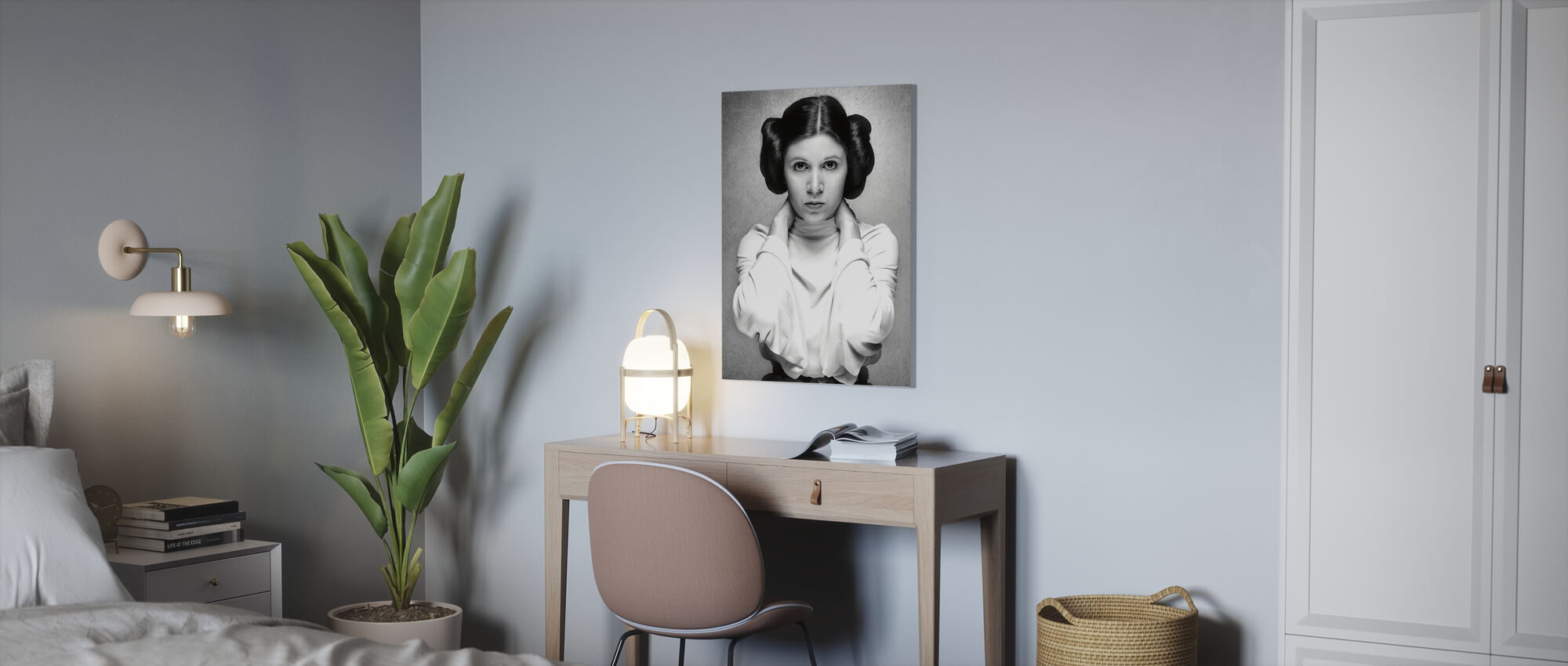 Princess Leia - Carrie Fisher - Canvas print - Office