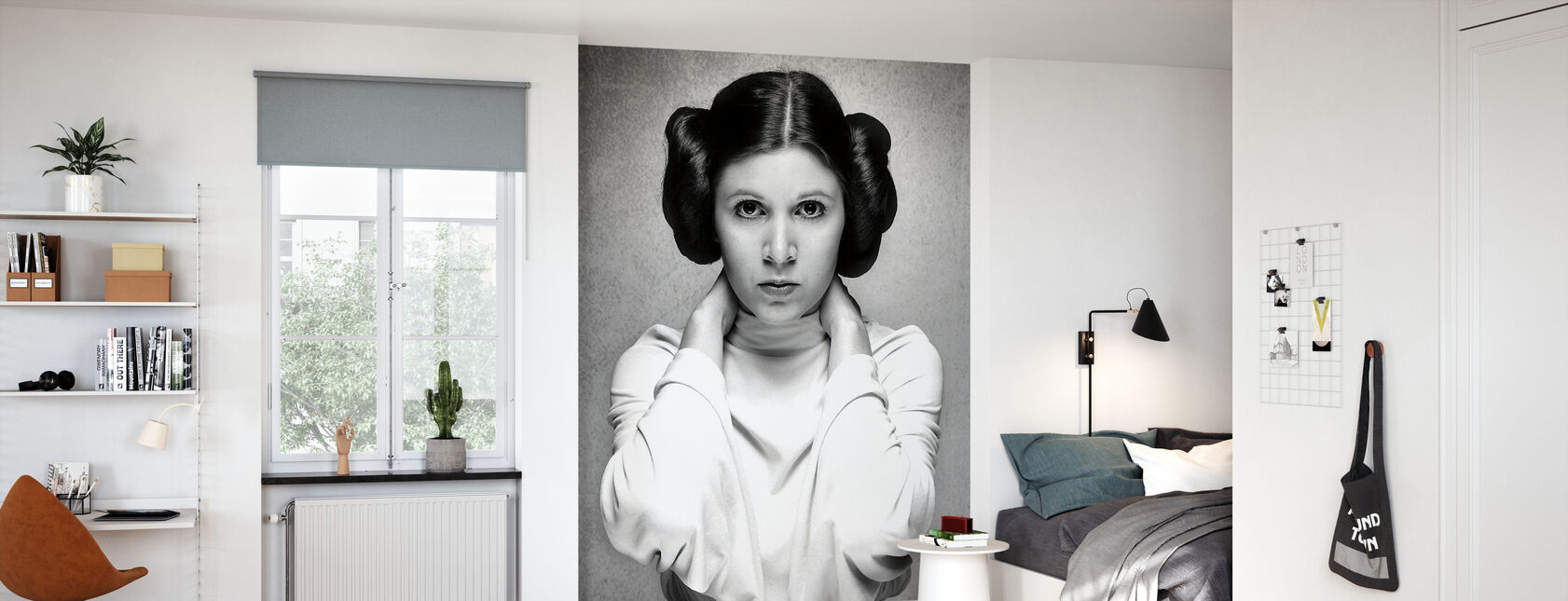 Prinsesse Leia - Carrie Fisher - Tapet - Barnerom