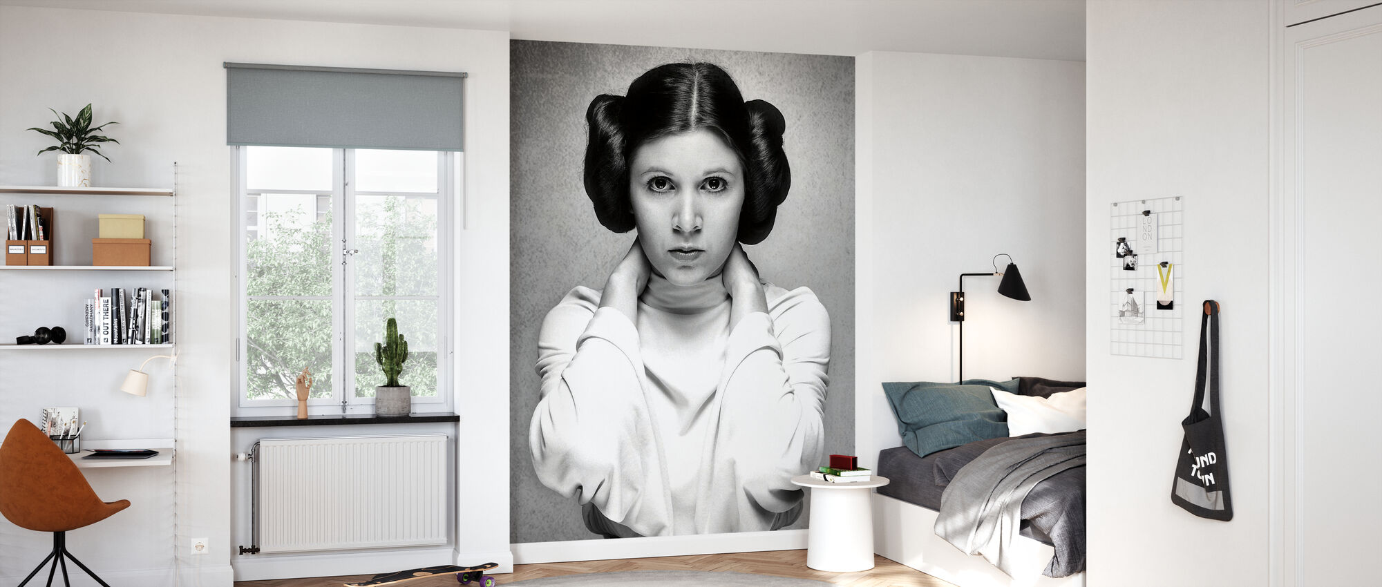 Prinzessin Leia - Carrie Fisher - Tapete - Kinderzimmer