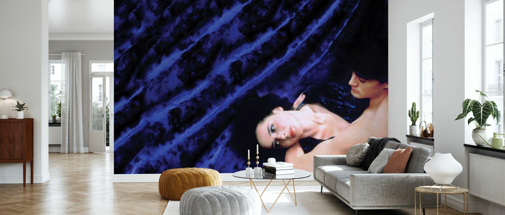 Blå sammet - Isabella Rossellini och Kyle Maclachlan - Tapet - Vardagsrum