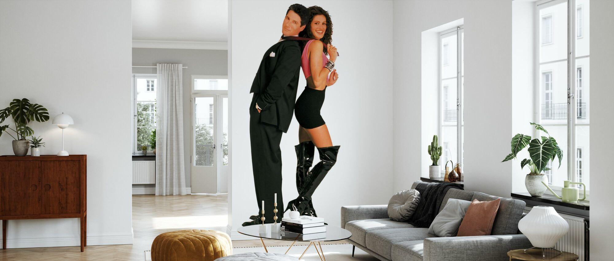 Söt kvinna - Julia Roberts och Richard Gere - Tapet - Vardagsrum