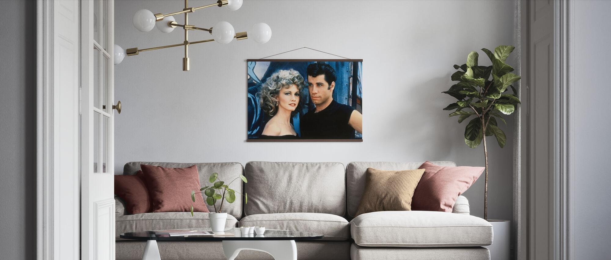 Sandy och Danny - John Travolta och Olivia Newton John - Poster - Vardagsrum