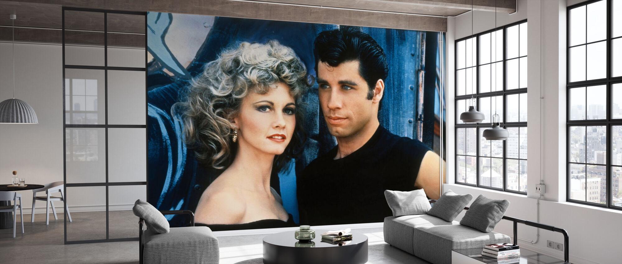 Sandy och Danny - John Travolta och Olivia Newton John - Tapet - Kontor