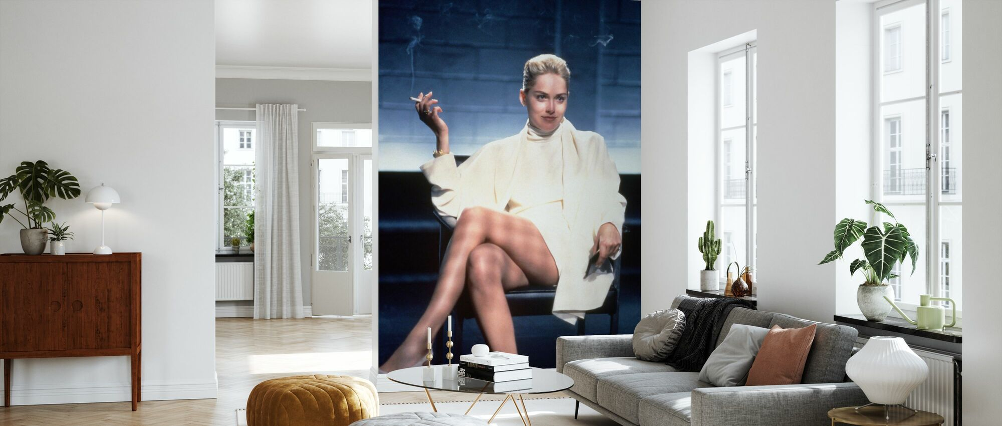 Basic Instinkt - Sharon Stein - Tapete - Wohnzimmer