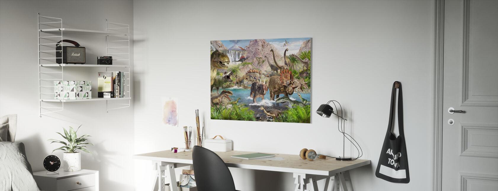 Dinosaur World - Canvas print - Kids Room