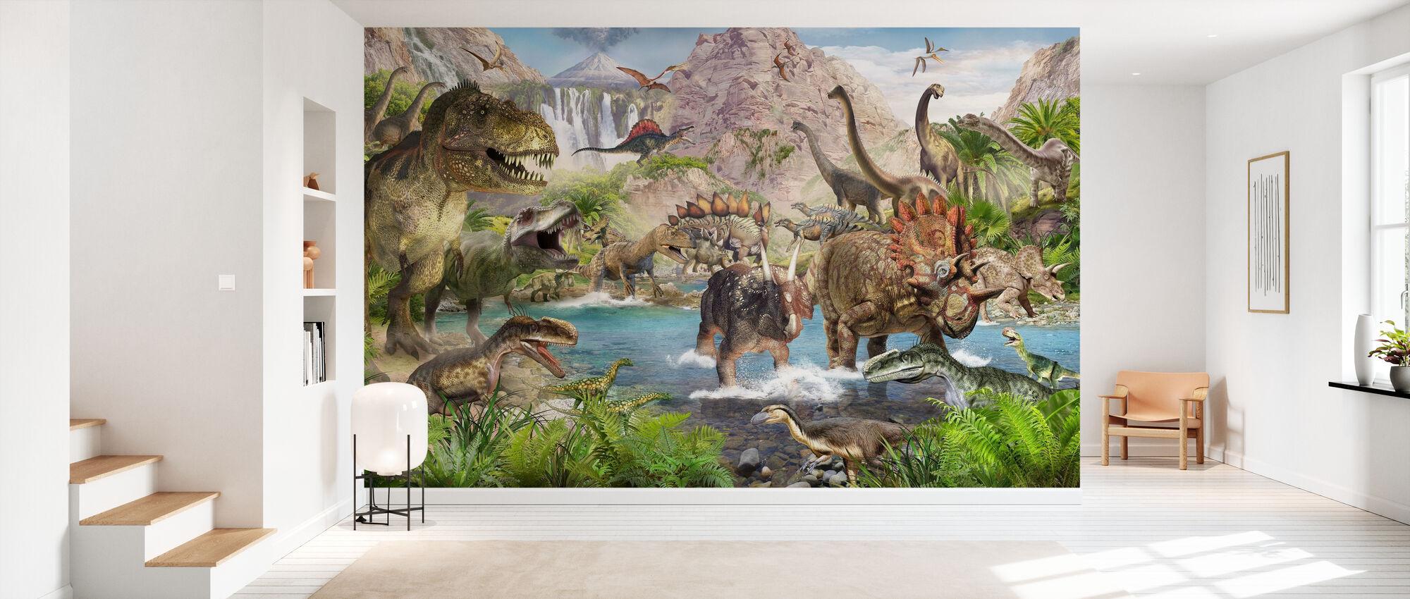 Dinosaur verden - Tapet - Gang
