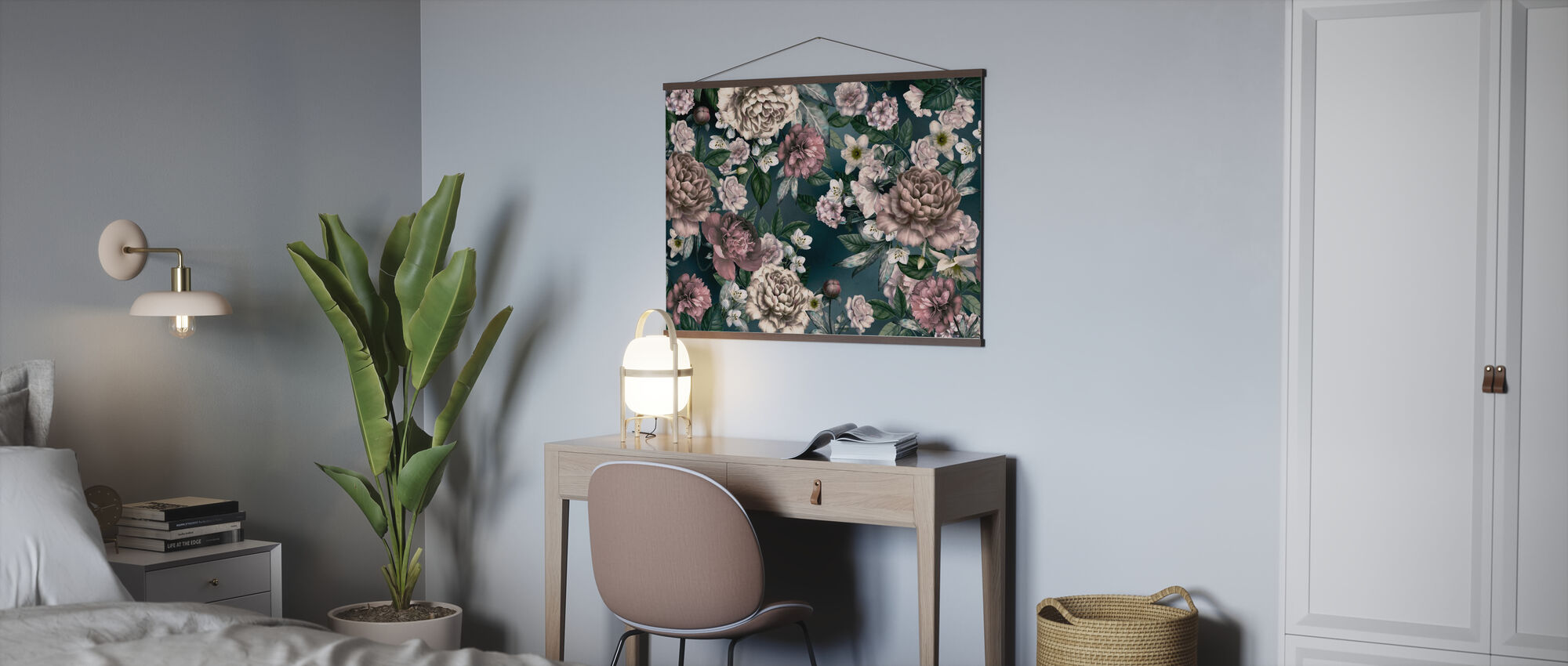 Folksy Flower Composition - Poster - Office