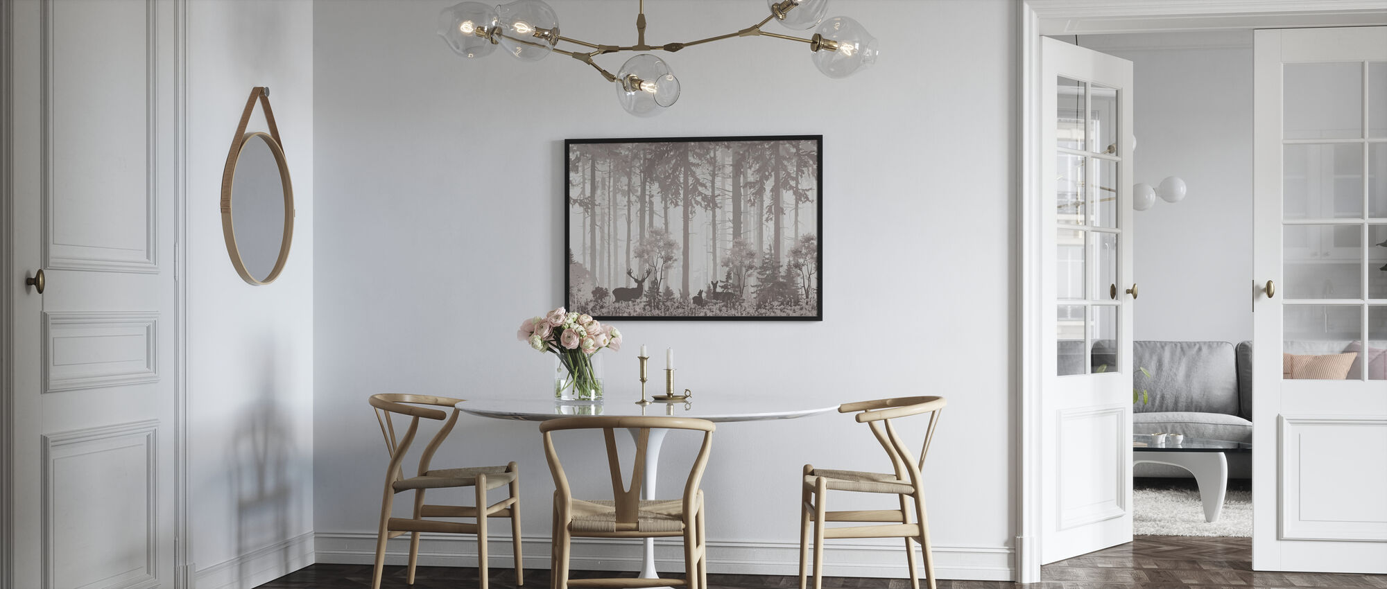 Forest Silhouettes - Framed print - Kitchen